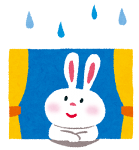 雨の日の見学