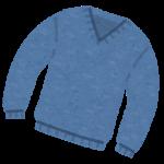 青いニット
