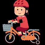 自転車にのる娘